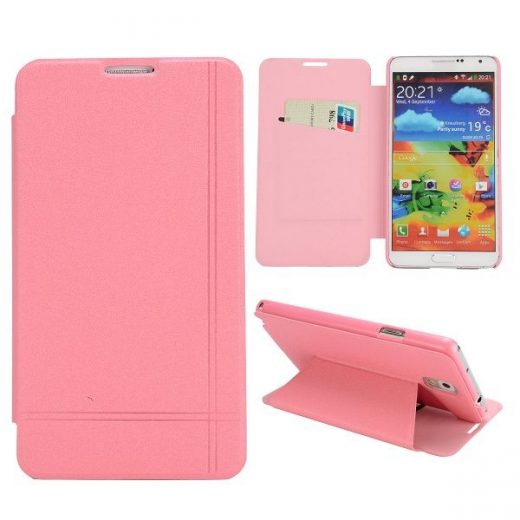 samsung-note-3-flip-case-cover-hoes-roze