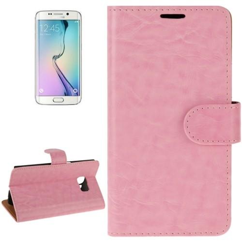 samsung-s6-edge-pu-leather-flip-case-cover-hoes-roze