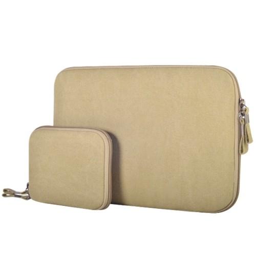 Sleeve - voor laptop en tablet tot max. formaat van 13.3 inch - legergroen