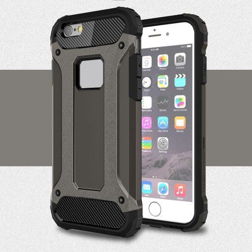 case - TPU + PC - Extra bescherming - Grijs
