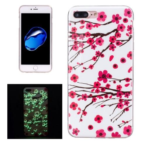 case - TPU - Glow in the dark - Cherry blossom